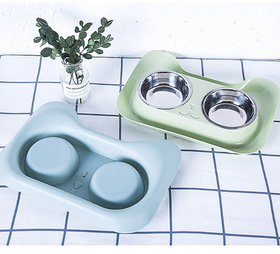 Pet-Feeder Dog-Bowl Stainless-Steel Double Universal Teddy High-Quality New-Arrivals