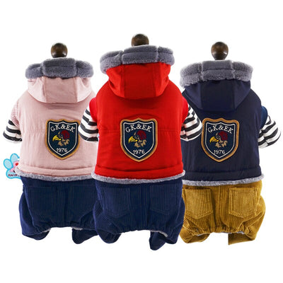 Jumpsuit Pets-Clothing Cachorro-Clothes Dogs Small Winter Warm for 2-Color XS XL Pet-Outfit