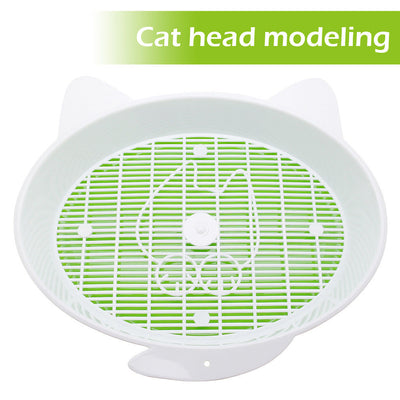 Cat Litter Box with Tray Mat Plastic Pet Cat Rabbit Pee Toilet for Cats Sifting Cat Litter Box Pee Pad Tray Pet Trainer Cleaning