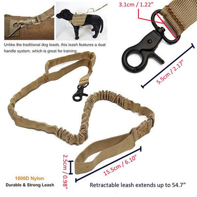 Pet-Collars Dog-Leash Police Elastic Military Nylon Tactical Multicolor 1000D
