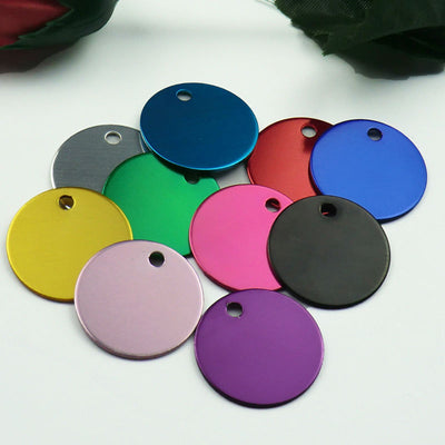 Id-Tags Engraving Address Phone-No. Custom-Name Personalized Round Wholesale 100pcs