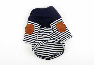 HOOPET Navy T-Shirt Dog Fashion Small Cat Stripe Spring/summer