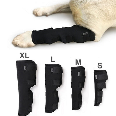 Pet Knee Pads Dog Support Brace for Leg Hock Joint Wrap Breathable Injury Recover Legs