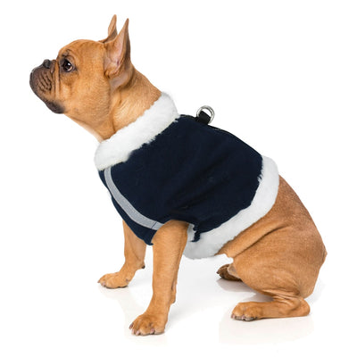 Dog-Harness Vest Reflective Dogs No-Pull French-Bulldog Fleece Small Pet-Vest-Coat