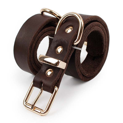 SYDZSW Pet-Leads Buckle Dog-Products Dog-Collar Labrador German Shepherd Brown Large