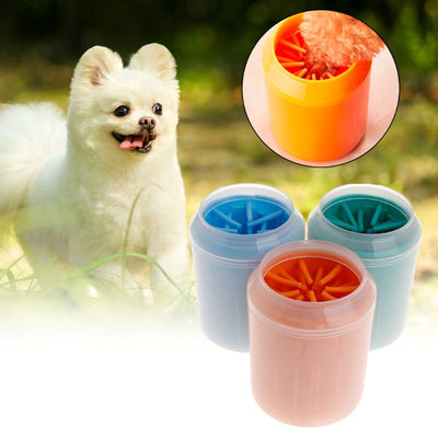 Soft-Brush-Cup Foot Washer Pet-Paw-Cleaner Cleaning-Dirty Dog Fast-Washing-Device