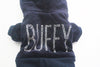 Coat Jacket Puppy-Hoody Rhinestones-Design Jumpsuit Dress Pet-Dog Velvet 5-Sizes