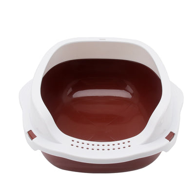 Toilet Litter-Shovel Cat Sandbox Training Semi-Closed for Pet-Cat with Gift