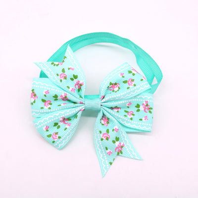 Bow-Ties Dog-Accessories Grooming Adjustable Ribbon Pet-Supplies Flower-Style Bowknot