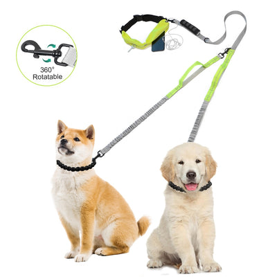 Dog-Leash Hand-Freely Reflective Dogs Nylon Adjustable Walking Small Running Elasticity