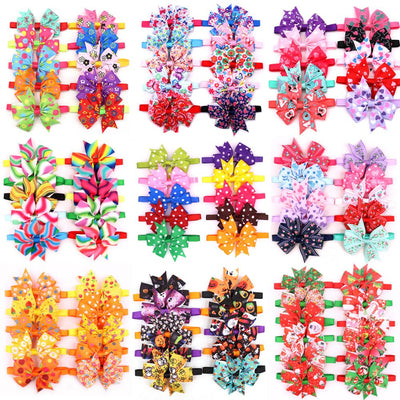 20pcs Halloween Dog Accessories Pet Dog  bowtie Cute Pet Dog Party Holiday Grooming Christmas