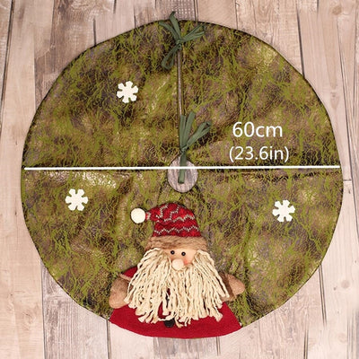 Aprons Skirt Carpet Xmas-Decoration Christmas-Tree 60cm Ornaments Red/green