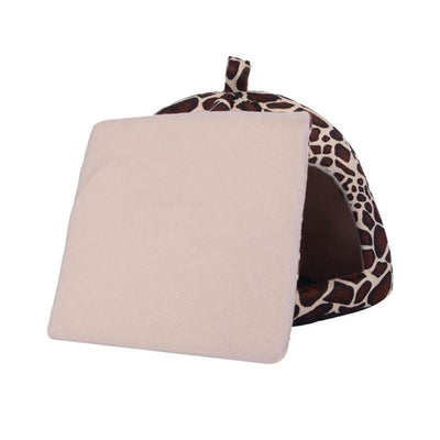 Basket Tent House Cushion Kennel Pet-Product Cave Warm Leopard Winter Doggy Bed Strawberry