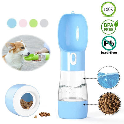 HOOPET Pet Dog Water Bottle Feeder Bowl Portable Water Food Bottle Pets Outdoor Travel