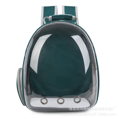 Beautiful Breathable Portable Pet Carrier Bag Outdoor Travel cat bag Transparent Space Pet Backpack