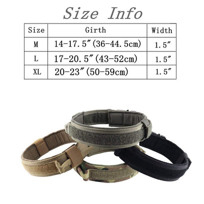 Dog-Collar Control-Handle Dogs Training Nylon Military Large Tactical Adjustable Medium