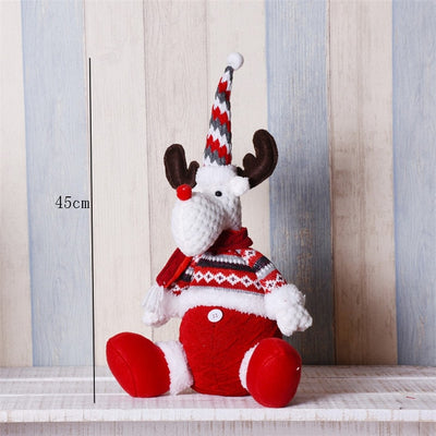 Toy Doll Snowman Elk Christmas-Doll Gift Retractable Natal Santa-Claus Large New-Year