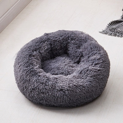 Kennel Sofa House Lounger Detachable Donut Puppy-Mats Pet-Beds Dogs Round Plush Comfy