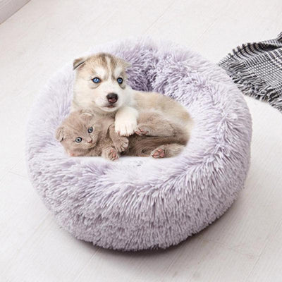 Mats Sofa Pet-Bed Dog-Basket Foldable Round Plush Dogs Warm Soft Long