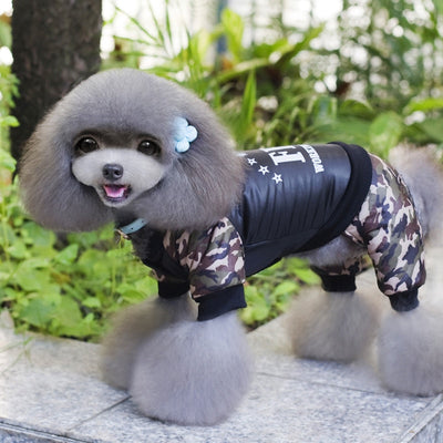 Costume Clothing Overall Dog-Puppy-Jumpsuit Winter Dogs Warm Cool FBI for Boy Ropa Para