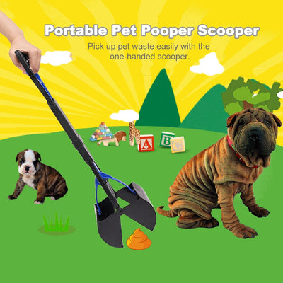 Cleaning-Tools Scooper Waste-Bags Pick-Up Dog Puppy Long-Handle Outdoor Animal Jaw