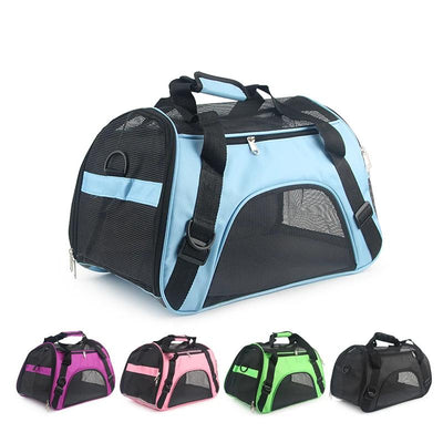 Carriers Pet-Bag Pets-Handbag Travel Portable Soft-Sided Blue Pink Outgoing