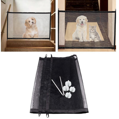 Magic Pet Dog Gate Pet Fence Barrier Folding Safe Guard Indoor Outdoor Puppy