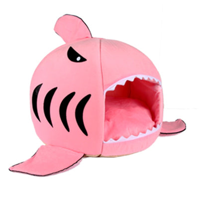 CAWAYI KENNEL Shark Pet House Dog Bed For Dogs Small Animals Products