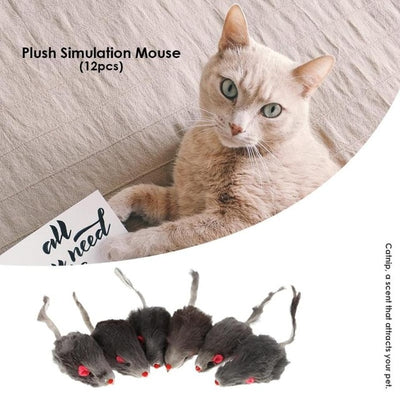 Pet-Cat-Toys Pet-Accessories False-Mouse Rabbit-Fur Cats Funny Kitten Mini for 12pcs/Set