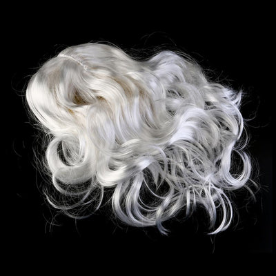 Silk Deluxe White Santa Fancy Dress Costume Wizard Wig and Beard Christmas New Year Decoration