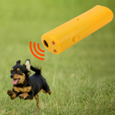 Training-Device Repeller Anti-Barking-Stop Ultrasonic Without Battery Pet-Dog LED 3-In-1