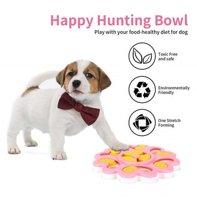 Feeder Toys Dispensing Dog Puppy Dog-Puzzle Training-Games Interactive-Flower IQ Slow