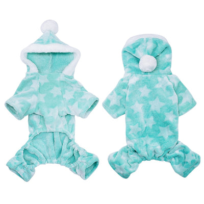 Jumpsuit Pajamas Clothing Coat Dog-Costume Dogs Cats Fleece Chihuahua Winter Hooded Soft