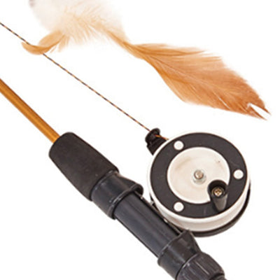 Pet-Toy-Rods Fishing-Rod Cat-Stick Telescopic-Feathers Funny Playing-Toy Simulation Fish-Shape
