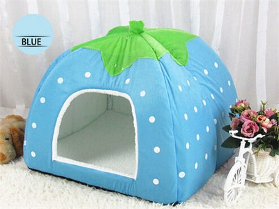 Holapet Cute Foldable Cat Kitten House Warm Soft Winter Cotton