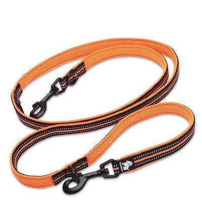 Truelove Dog Lead Leash Multi-Function Pet-Training Reflective Hand-Free Walk Adjustable