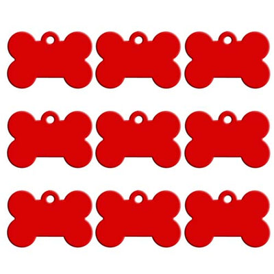 KIYUE 100pcs Collars ID For Cats Bone Shape Tag