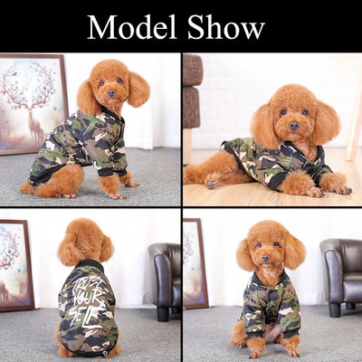 HOOPET Jacket Pet-Dogs-Clothes Winter Warm New Two-Legs Leisure-Style Autumn Cotton