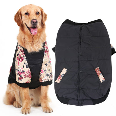 HOOPET Large Dog Thickened Two Feet Clothing Pet Spring Autumn Dress for Big Pet