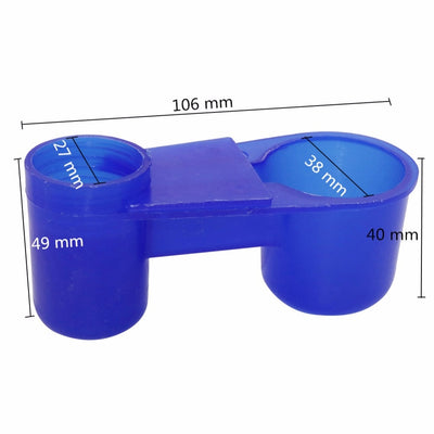 Adhere To Fly 50 Products equipment Bird Cage Accessories Blue Drinking cup