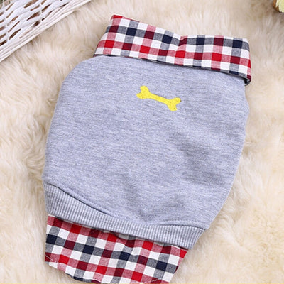 Pet-Coat Sweatshirt Plaid Dogs Small Winter Medium for Soft Warm Chihuahua