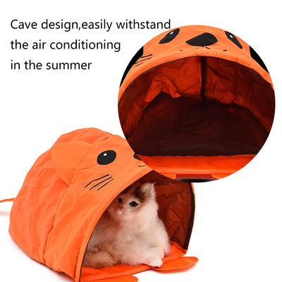 PAWZ Road Cartoon Mouse Shape Tent With Sound Cat Toys