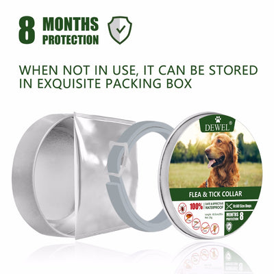 Dog-Collar Dog-Accessories Herbal Anti-Flea Dewel Waterproof Protection Insect 8-Months