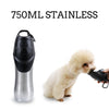 Pet-Bottle Dog-Bowl-Dispenser Travel Stainless-Steel Outdoors Portable 750-Ml Cat Safety