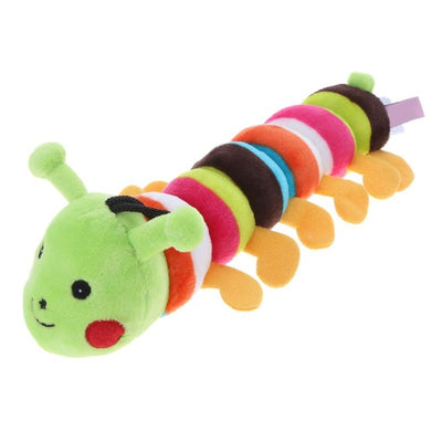 Plush Stuffed Pet Dog Toys Sound Cute Longworm Chew Squeak Toys for Dogs Teeth Cleaning
