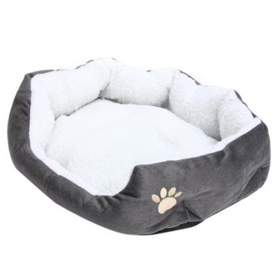 Nest Cushion Washable-Bed Puppy Sleeping-Fleece-Basket Pet's Dog Warm with for Gray