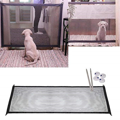 Dog-Gate Fence Safety-Guard Magic-Mesh Folding Portable Pets for Pet-Dog Professional