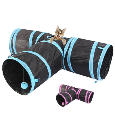 DCPET cat Tunnel 3 WAY Y Shape Foldable Pet Puppy Animal