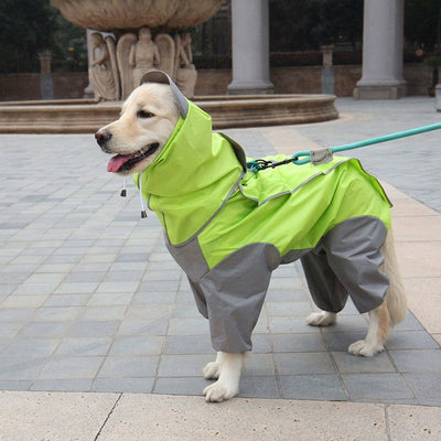 Jumpsuits Raincoats Poncho Dogs Waterproof for Small Medium Large Pet-Dog Safety