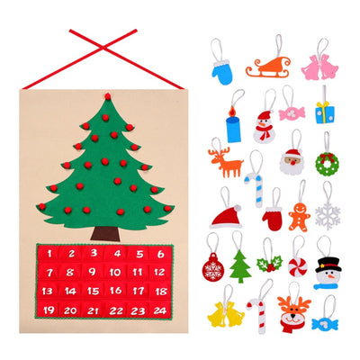 OurWarm Date 1-24 DIY Felt Christmas Advent Calendar Christmas Tree Countdown Calendar